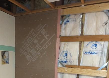 壁量の不足部分は適切に耐力壁を追加して耐震改修しました