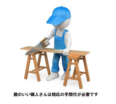 腕のいい職人さんは、相応の手間が必要です