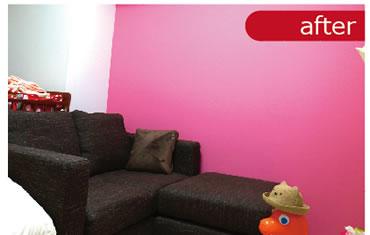 差し色をうまく使うことでお部屋の雰囲気は一気に変わります