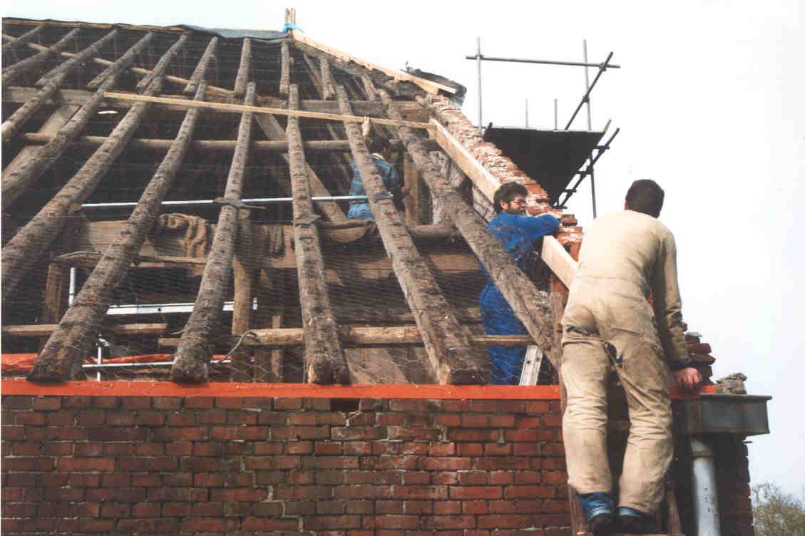 Nieuw dak op de schuur