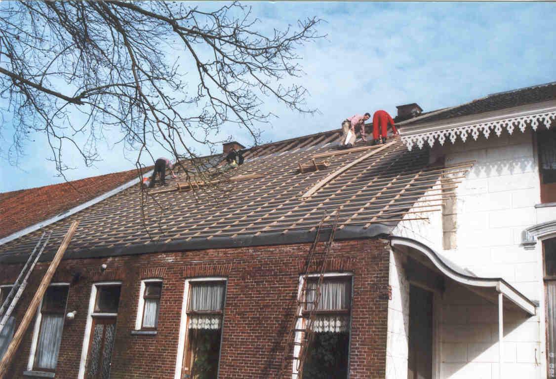 Nieuw dak op de eetkamer