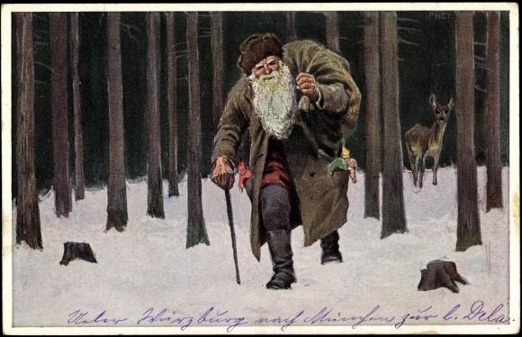 Draußen vom Walde da komm ich her, ich sag Euch, es weihnachtet sehr Adventsgedicht Weihnachtsgedicht Weihnachten Nikolaus und Knecht Ruprecht