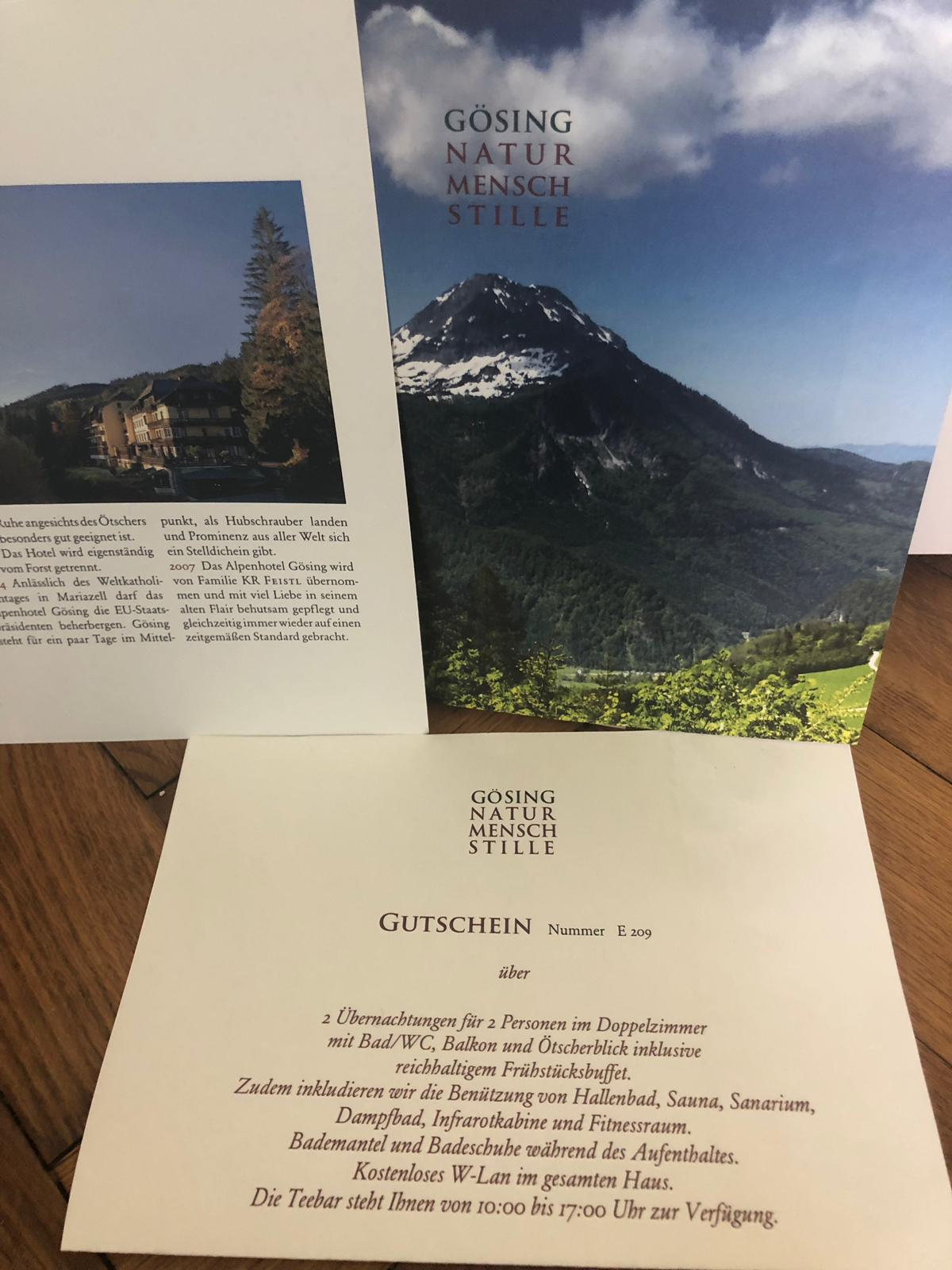 Hotelaufenthalt im Alpenhotel Gösing im Wert von €400