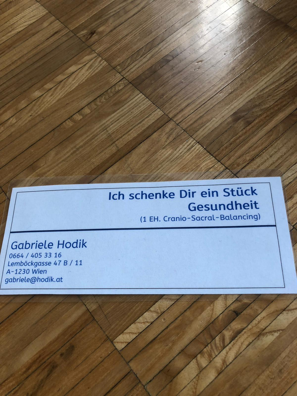 Gabriele Hodik im Wert von 120 Euro