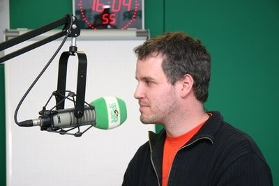 Tom Krause bei Radio PSR in Leipzig. Foto: Radio PSR