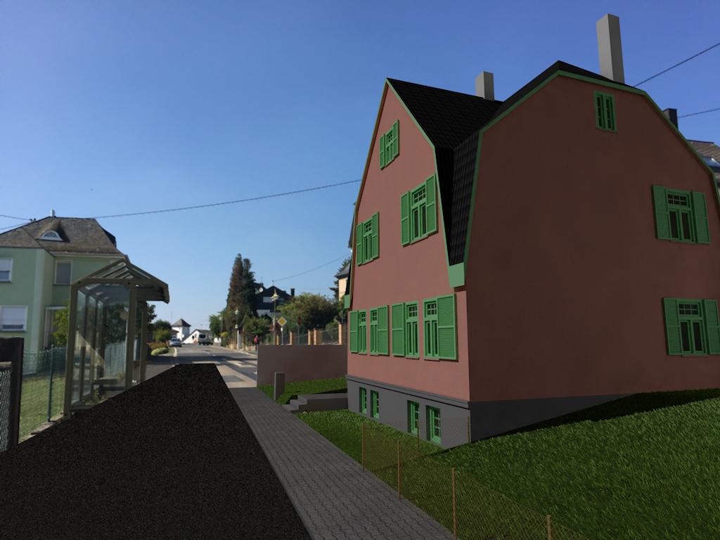 Perspektive Straßenansicht Bestand