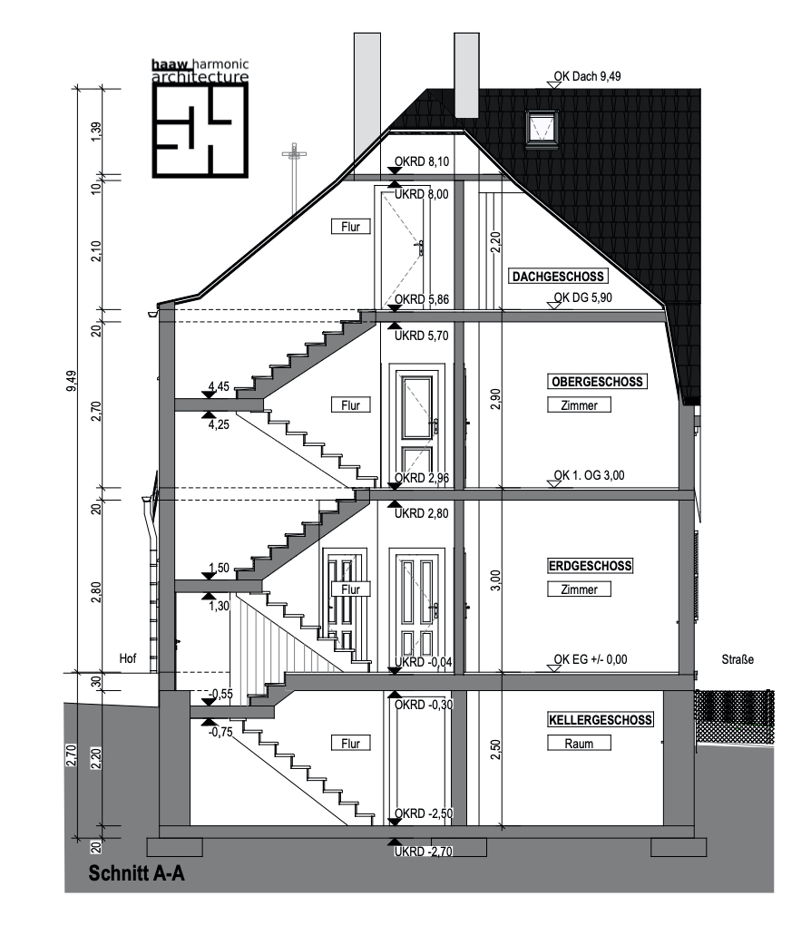 Schnitt Haus Bestand