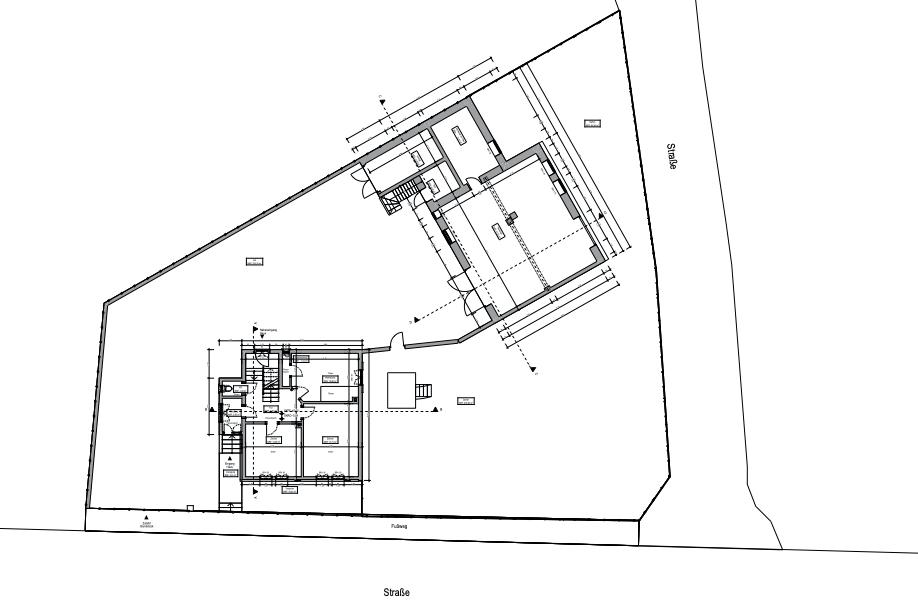 Grundriss Erdgeschoss  mit Lageplan Bestand