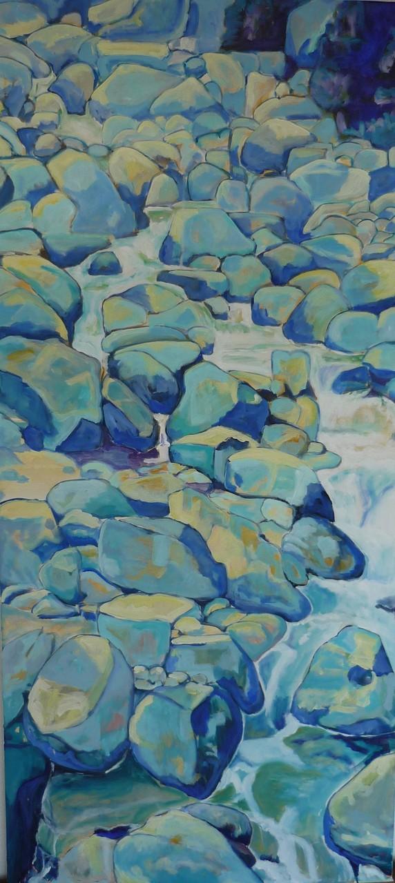 Bachlauf, 2013, Acryl auf Leinwand, 60x120