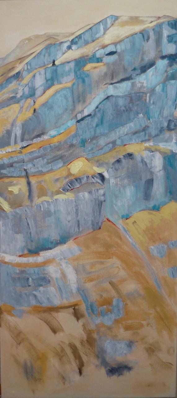 Calfeisental, 2013, Acryl auf Leinwand, 60x120