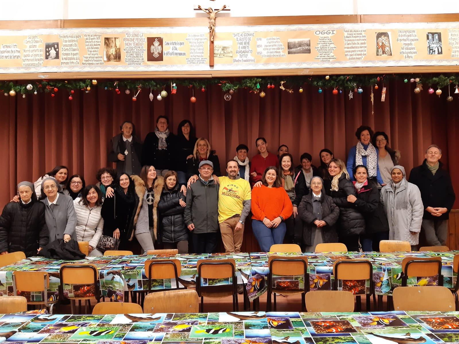 L'équipe éducative de Virgo Fidelis à Grottaferrata
