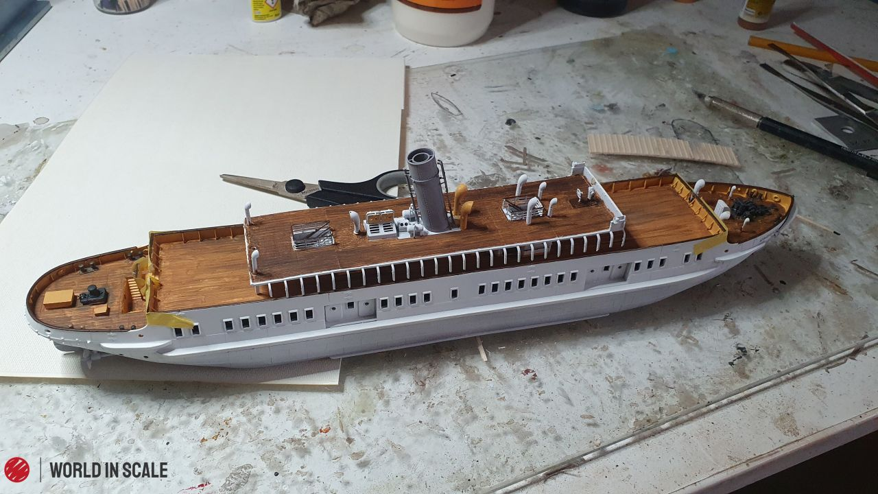 S.S. NOMADIC- 1/200 CAD construction & 3D printed