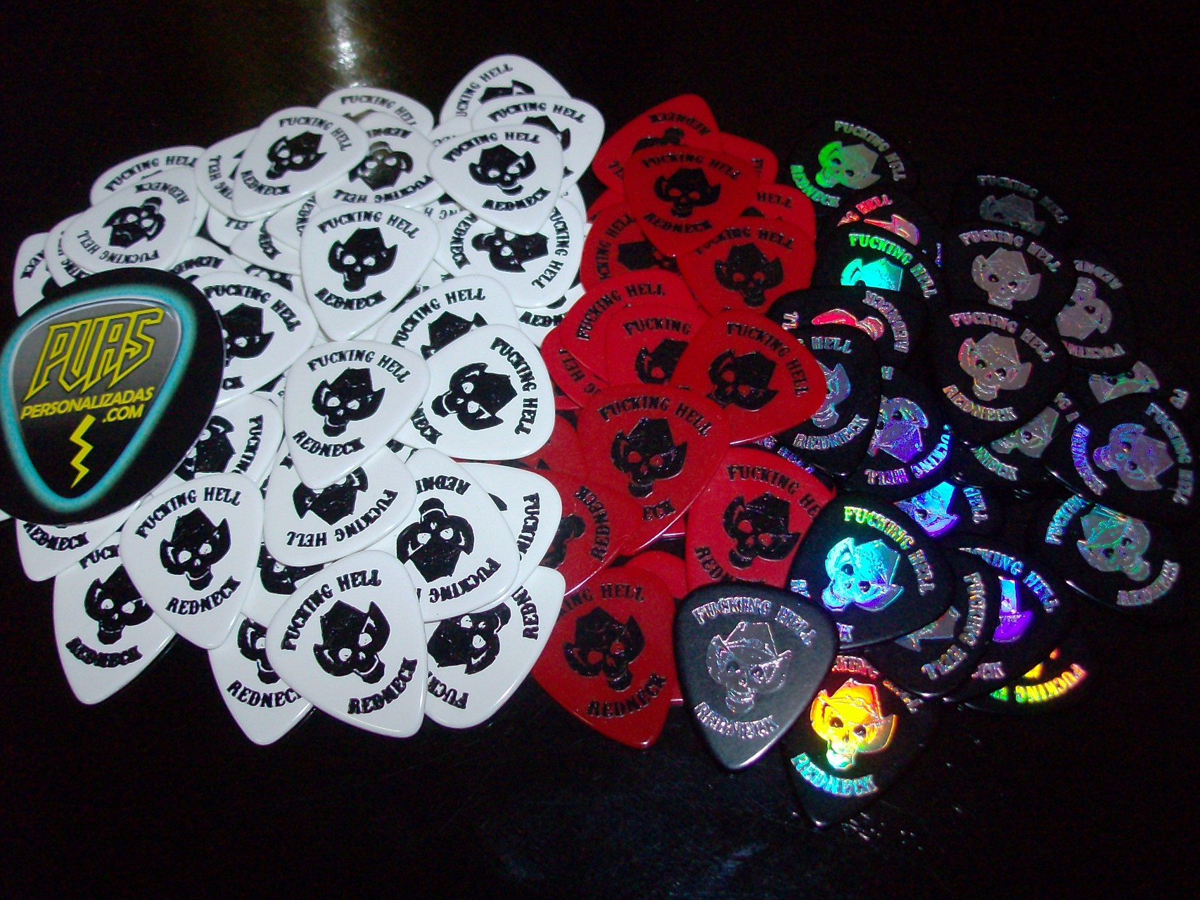 puas personalizadas, guitar picks