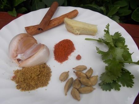 Garlic Cinnamon Ginger Coriander Cardamom Cumin  Cayenne