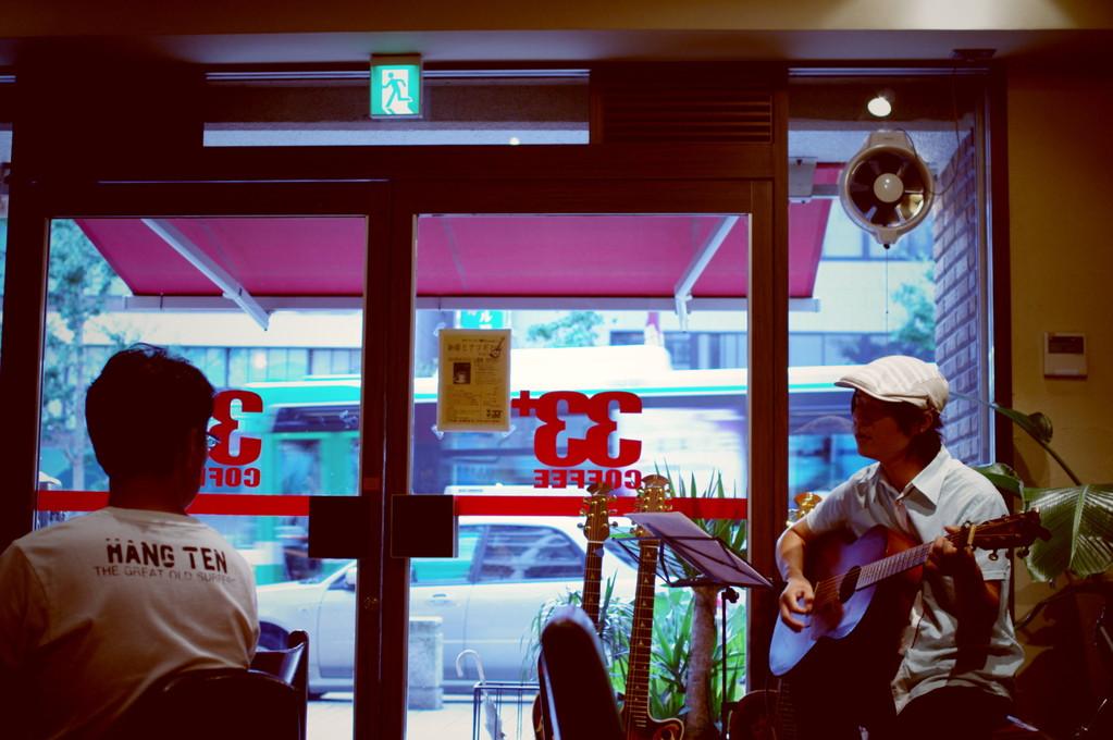 3+サーティーサード珈琲アコースティックLIVE「珈琲とアコギと・・・Vol.1」2012.9.1Sat 長谷川信也