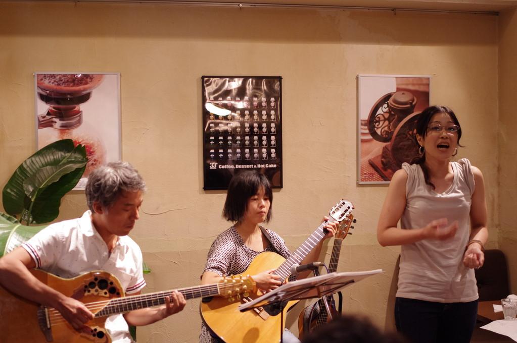 3+サーティーサード珈琲アコースティックLIVE「珈琲とアコギと・・・Vol.1」2012.9.1Sat tuna+神田敬子