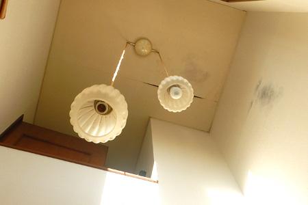 雨漏りで出来た天井のカビ