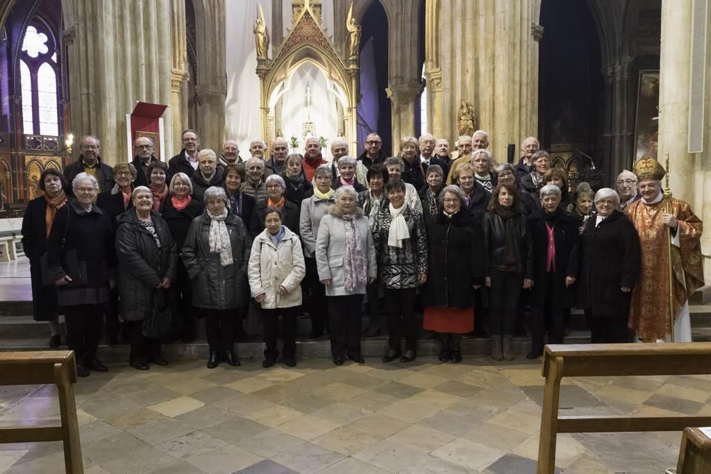 26 Février 2017 - Chorale St.-Léon en compagnie de Mgr Aillet, messe de la St.-Léon, Cathédrale de Bayonne