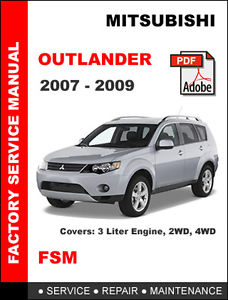 Mitsubishi Outlander Service Manual - Wiring DiagramsAutomotive manuals - Wiring Diagrams