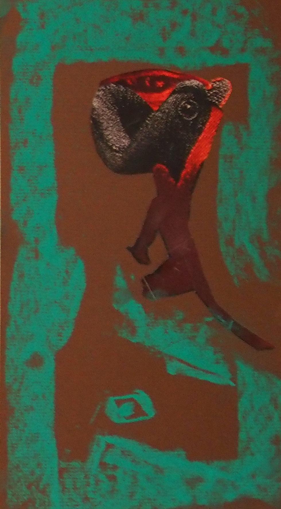 Collage by Eron Boyd Colour Gesture by Floyd Kuptana