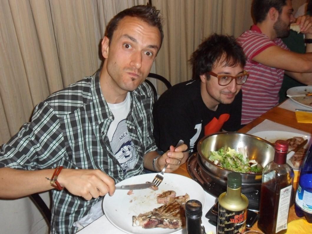 Francino e la mezza bistecca......tutta colpa di Fendo!!!!!! - Giugno 2012