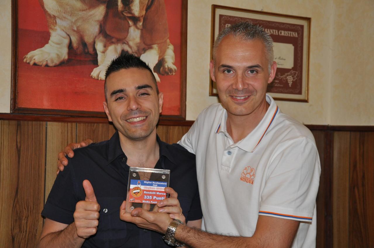Marco Rondelli il miglior realizzatore PAP della stagione 2012-13