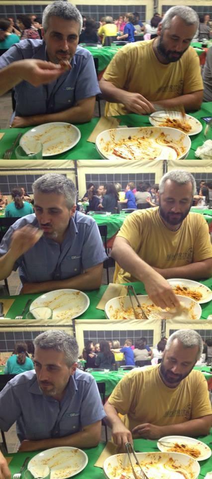 La poiana e Massi che mangiatori!!!!!! - Maggio 2014