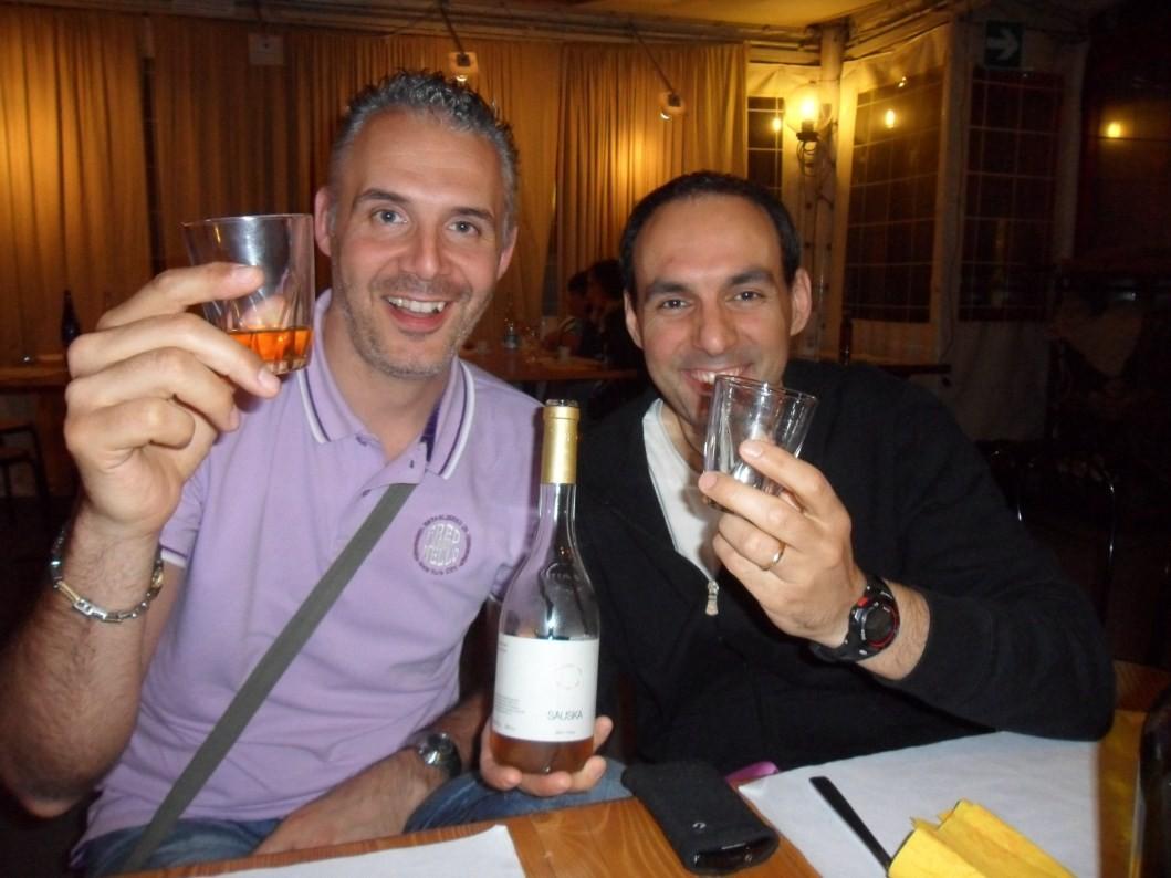 Sandrino e Big brindano alla PAP!!!!!! - Giugno 2012