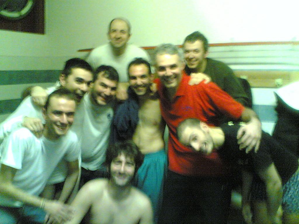 La gioia dei Papponi dopo la Vittoria contro Porcari - Gennaio 2009