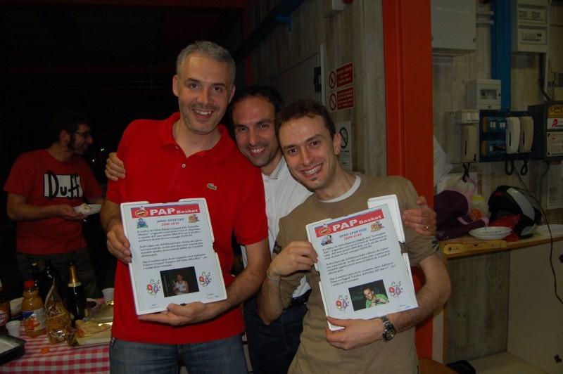 Sandrino l' indiano premia i più presenti della stagione Fede e Francino!!!! - Maggio 2010