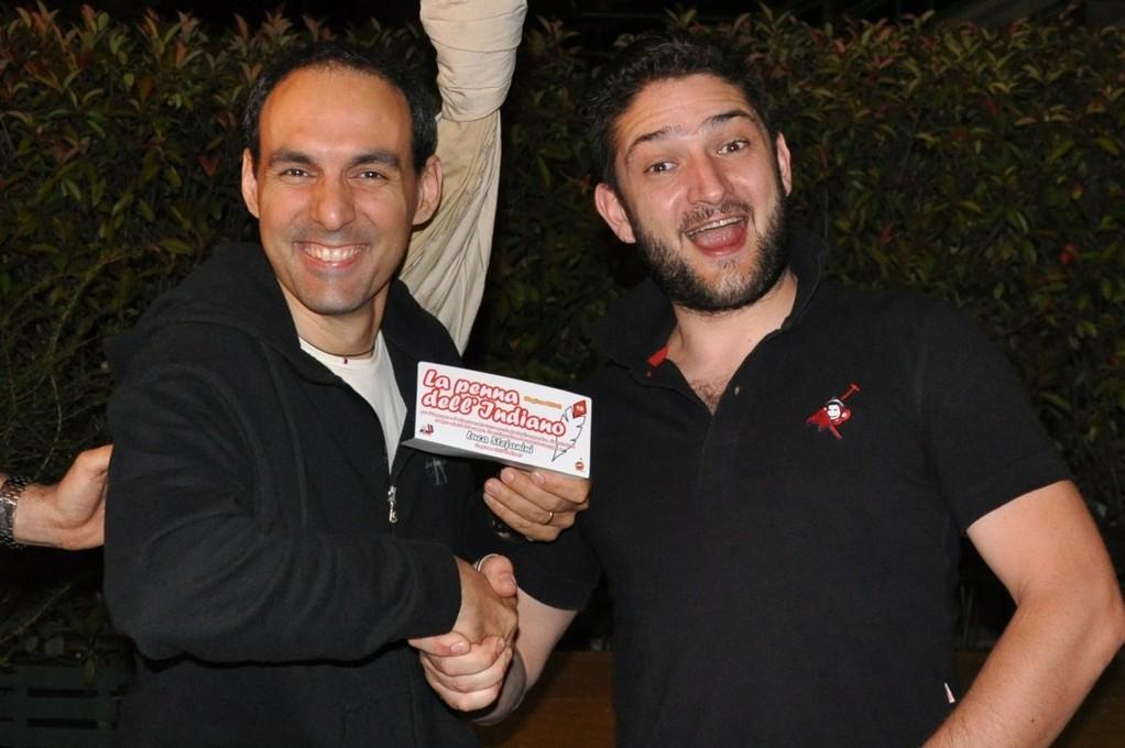 Sandrino premia Luca Stefanini con la penna dell' indiano - Giugno 2012