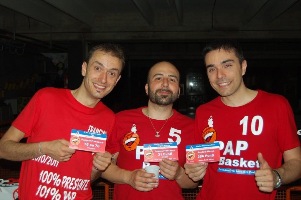 I Papponi premiati per la stagione 2010-2011 - Francino-France-Marco - Maggio 2010