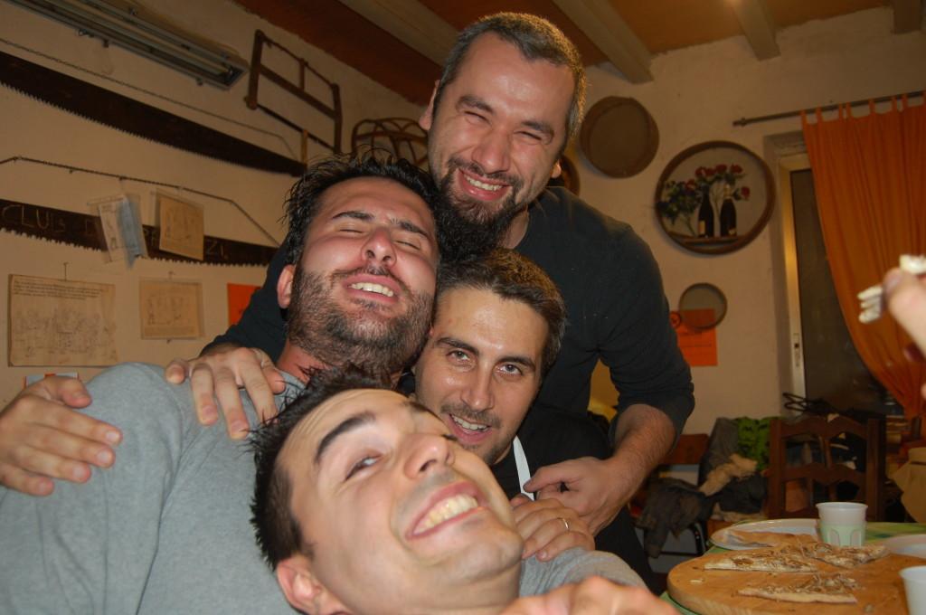 Il quartetto schiacciamento palline!!!! - Massi - Stefano - Andrea - Marco- Ottobre 2006