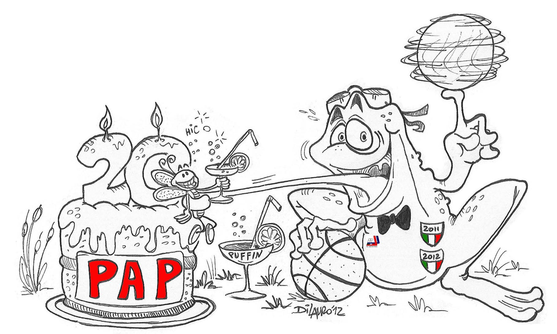 Disegno celebrativo per i 20 anni della PAP!!!!