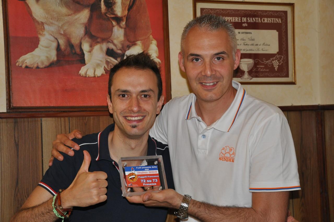 Big Fede premia Francesco Puggelli il più presente della stagione 2012/13