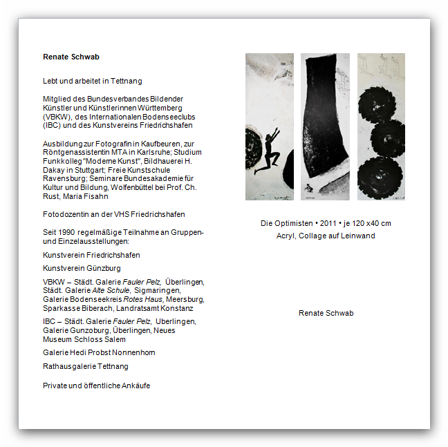 Renate Schwab vom 13. April 2014 bis 31. Juli 2014