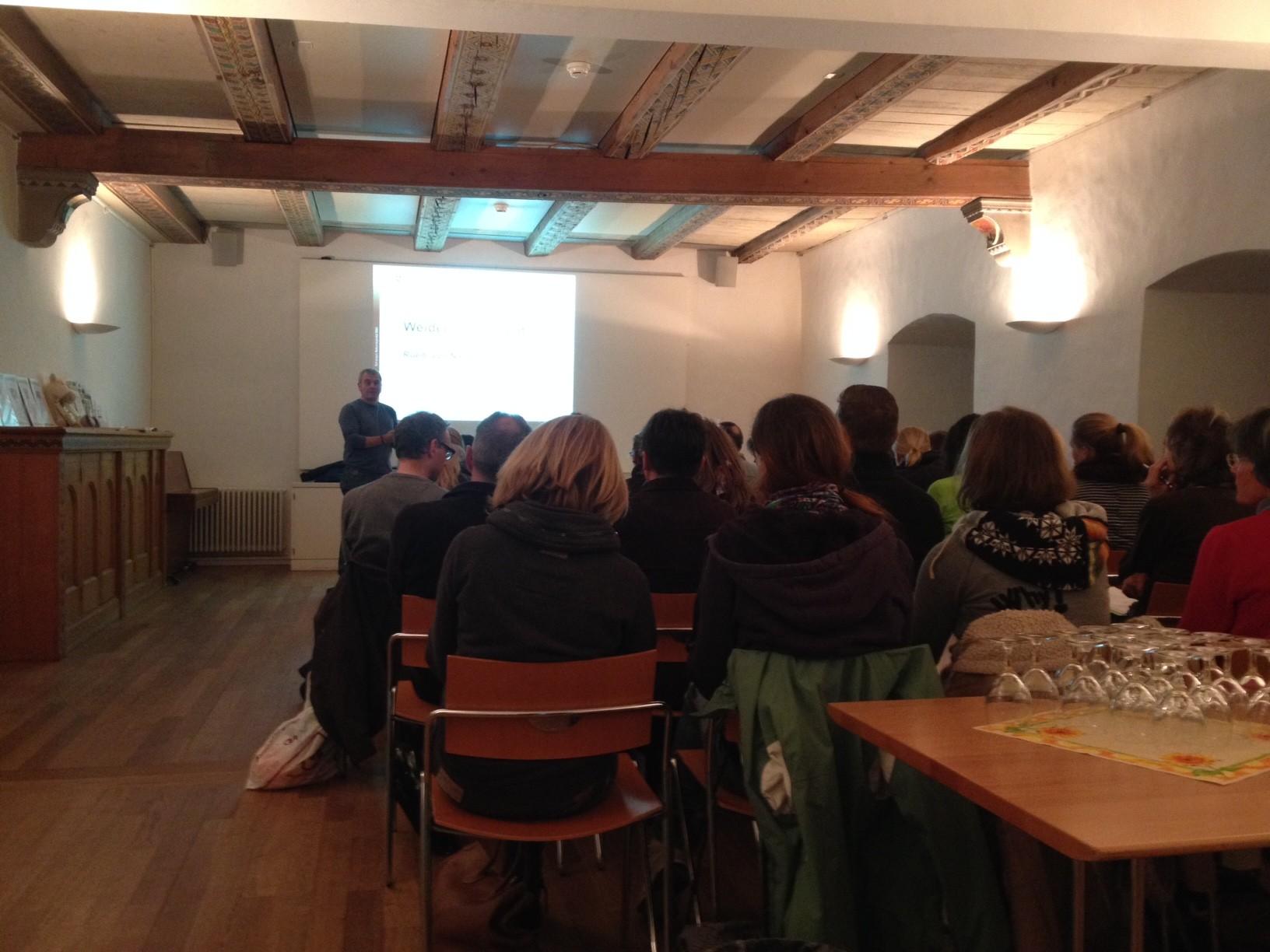 """Vortrag """"Weidemanagement - Düngung bis Weidepflege"""" vom 20. Februar 2015 mit Ruedi von Niederhäusern im Schloss Greifensee."""