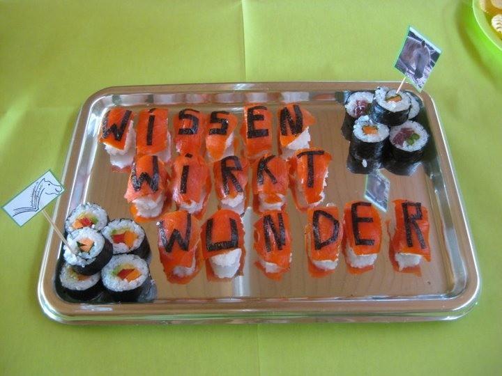 Das Sushi war tatsächlich so fein, wie es aussah, vielen Dank Simone!