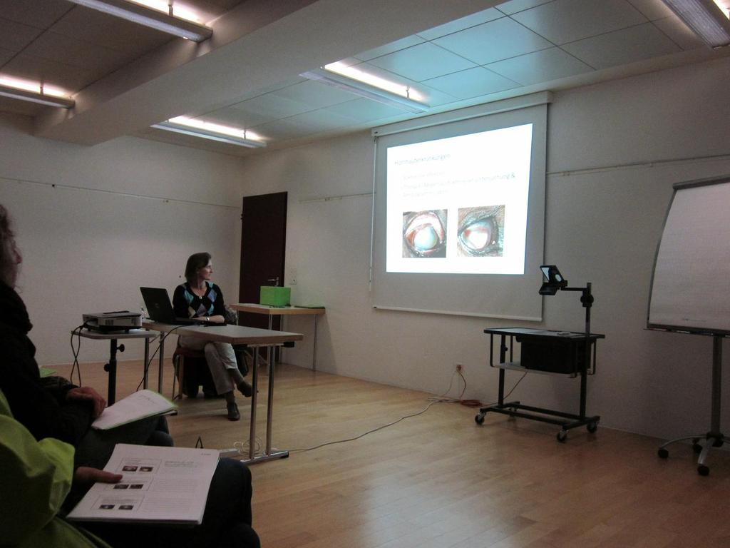 Vortrag Augenerkrankungen: Am 30. März 2012 fand ein sehr lehrreicher und interessanter Vortrag mit Dr. Marianne Richter statt.