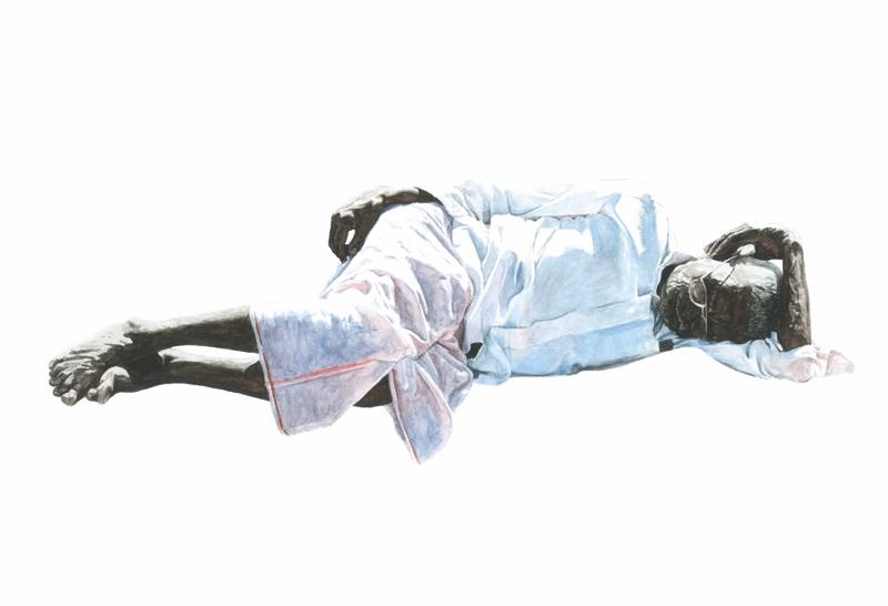 """Gerhard Binder - Aquarellserie """"Schläfer"""""""