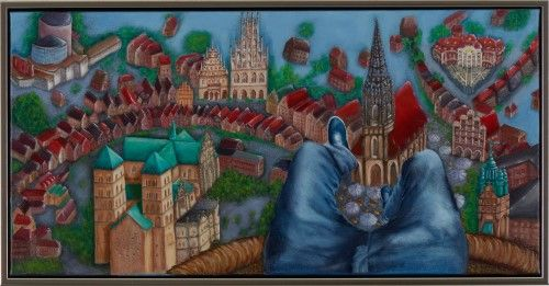 Heike Holstein - Perspektiven Acryl auf Leinwand 50x150 cm