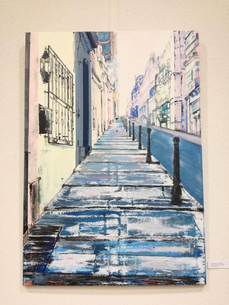 Claudia Bruchhäuser - Valetta, blaue Treppe