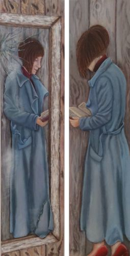 Heike Holstein - Dyptichon Spiegelbestseller: Acryl auf Leinwand je 120x30cm