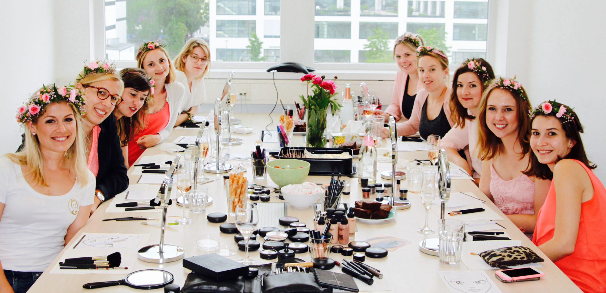 JGA Make-Up Party bei Wandelbar Make-Up