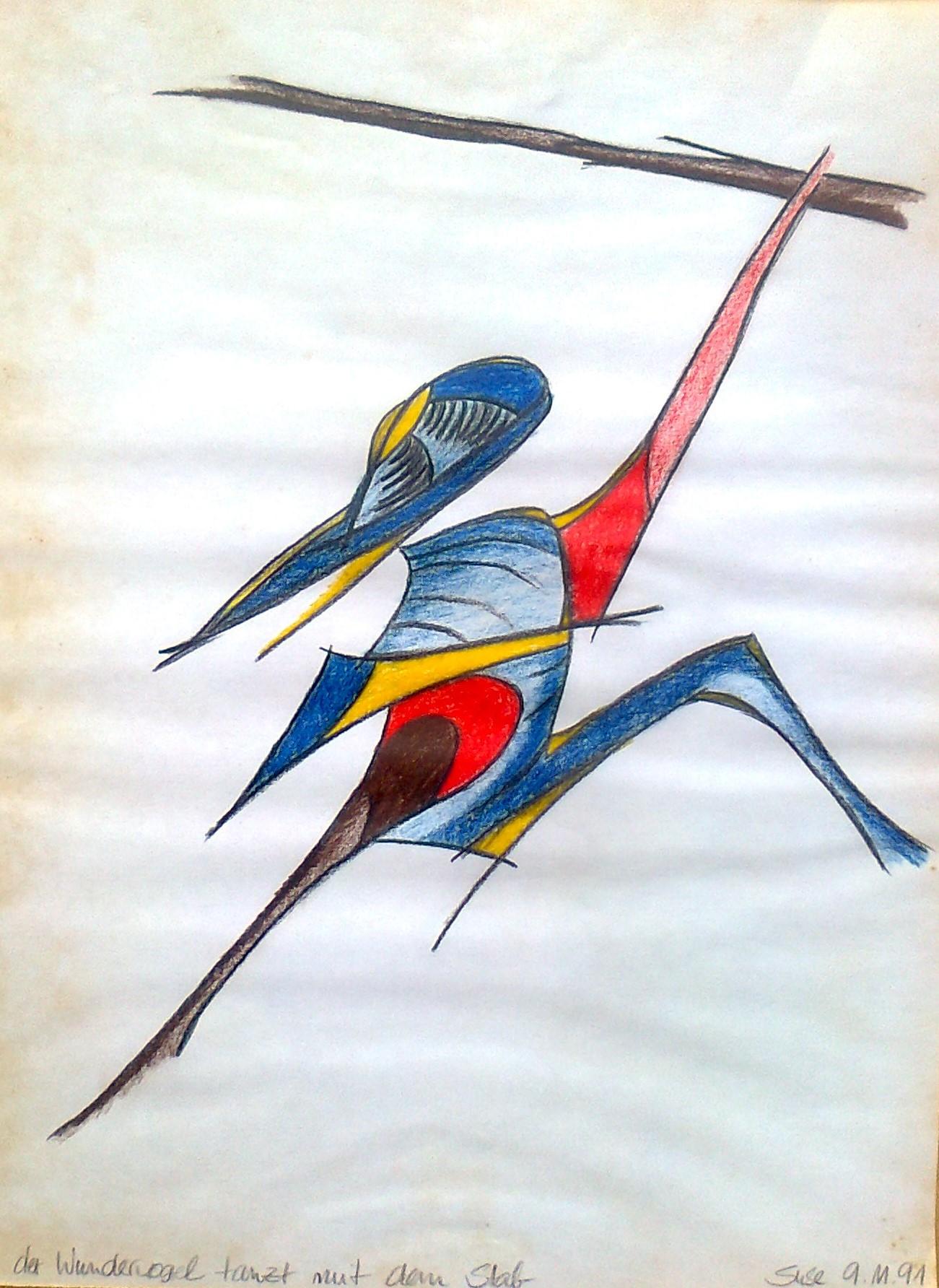 Wundervogel springt