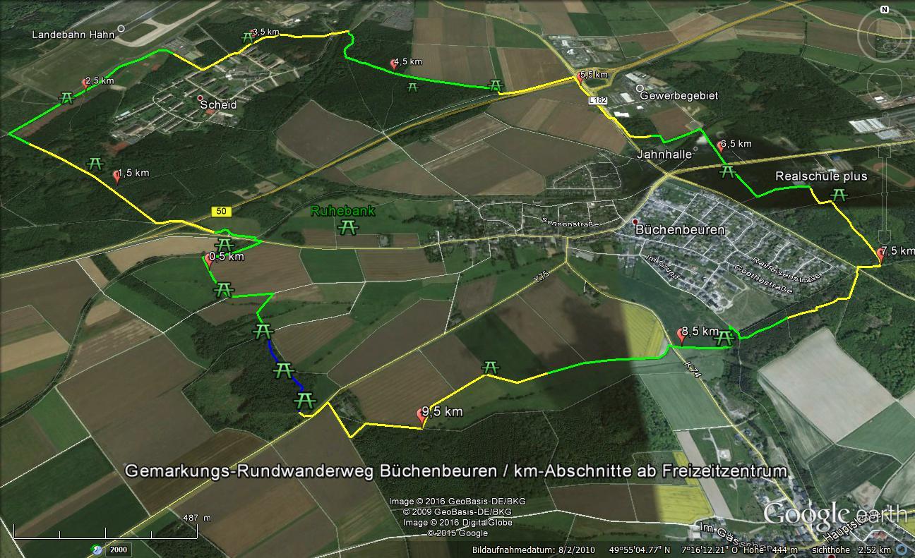 Gemarkungsweg B'beuren ca. 10800m