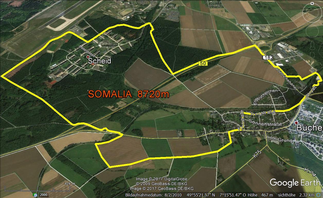 Somalia-Wanderweg 3  ca. 8100m