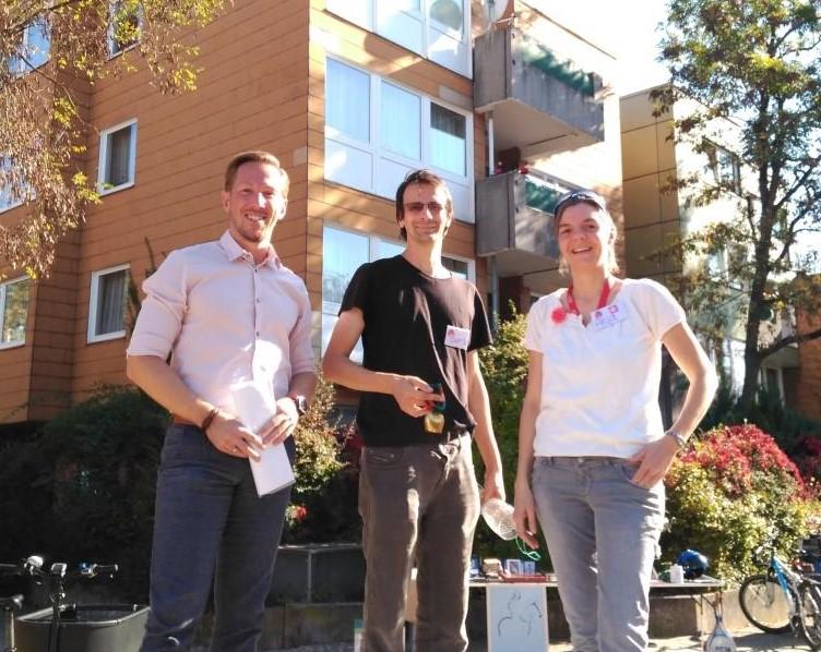 """Die Verantwortlichen von Bürgerverein, """"Essbare Stadt"""" und Stadtteilprojekt sind zufrieden"""