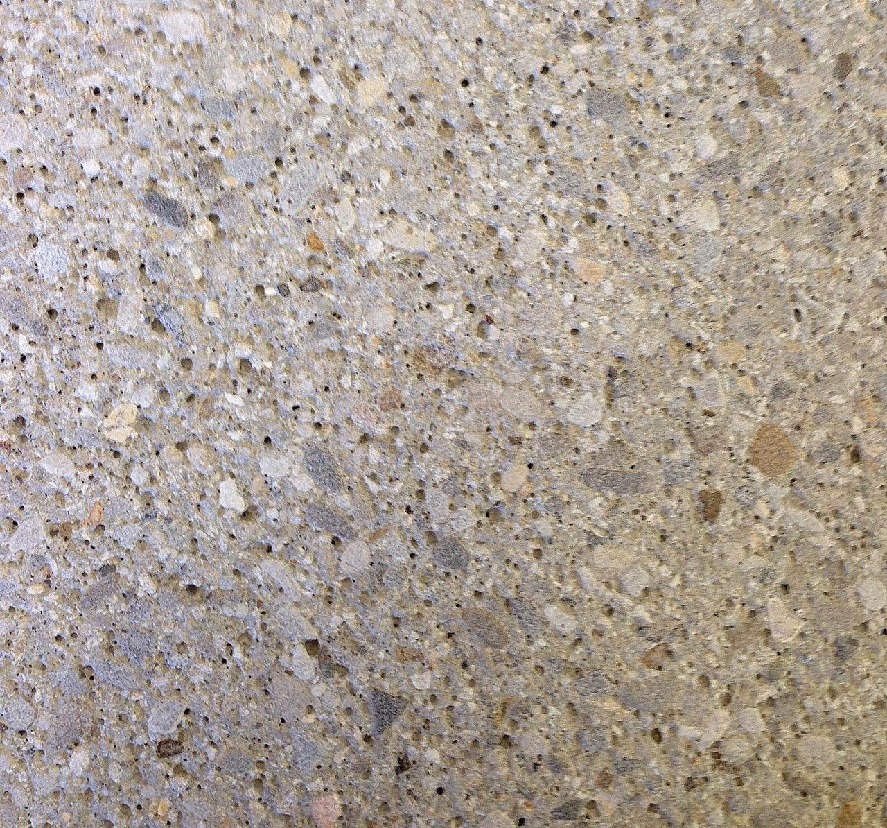 Graubeton feine Steine, Struktur gestrahlt
