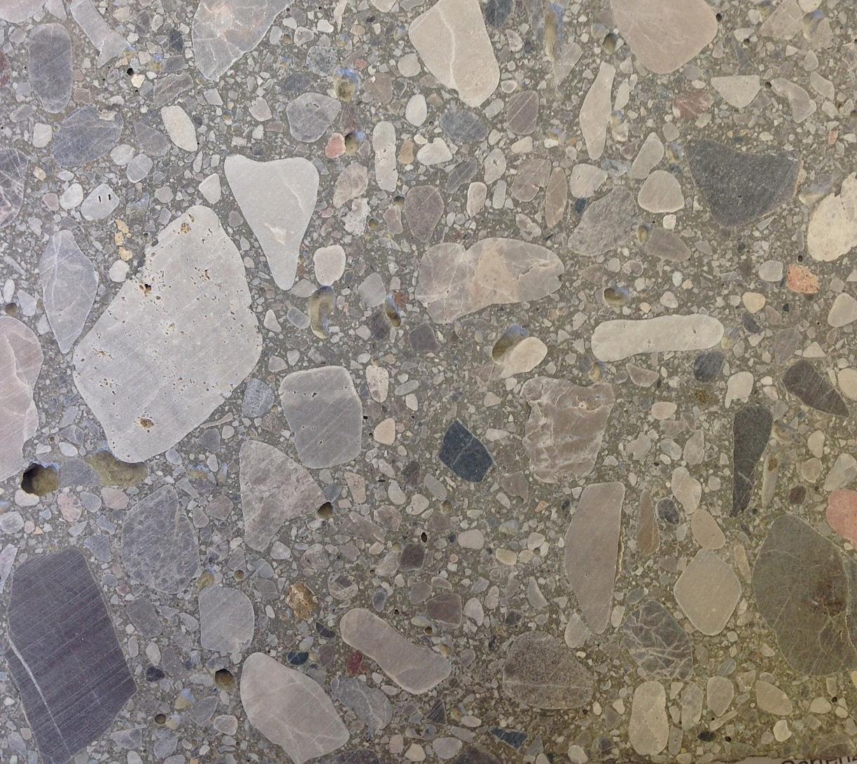 Graubeton grobe Steine, Struktur geschliffen